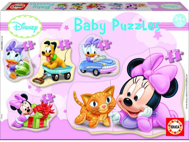 Minnie baby 5 puzzles od 24 mesiacov