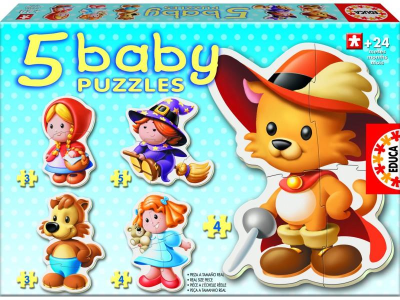 Baby 5 Puzzles od 24 mesiacov - rozprávky