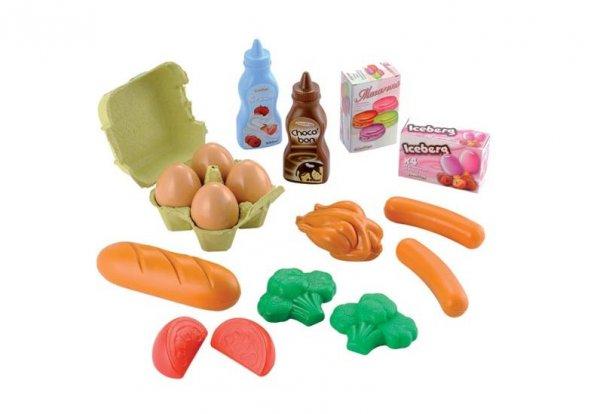 plastové potraviny - snídaňový set v síťce