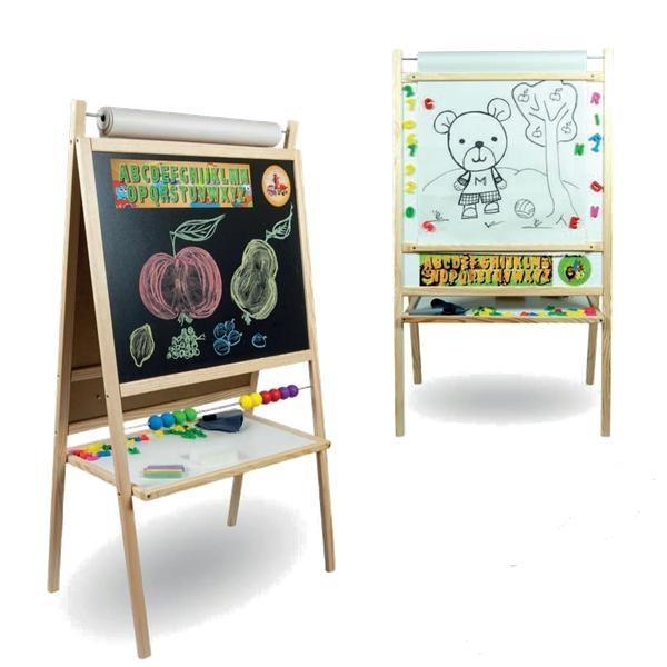 Dětská magnetická tabule 4v1