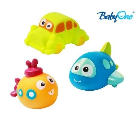 Veselé hračky do vody DOPRAVNÍ PROSTŘEDKY - 3ks