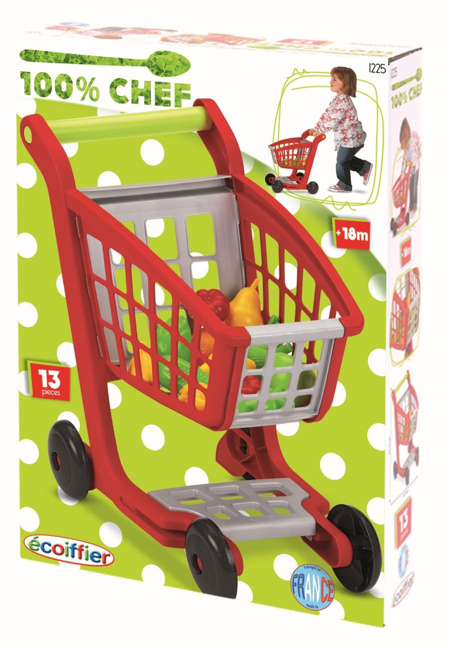 Nákupní vozík s nákupem