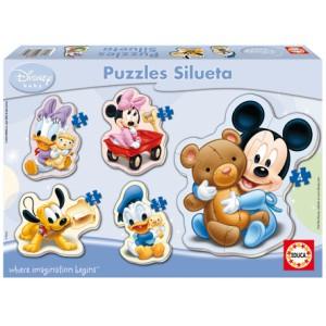 DISNEY PUZZLE SILUETA - BABY MICKEY A PRATELE