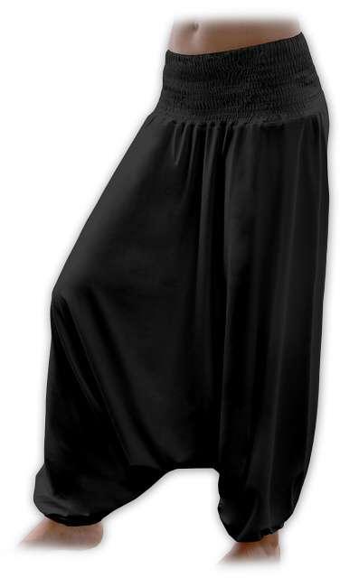 Turecké harémové kalhoty sultánky - černé