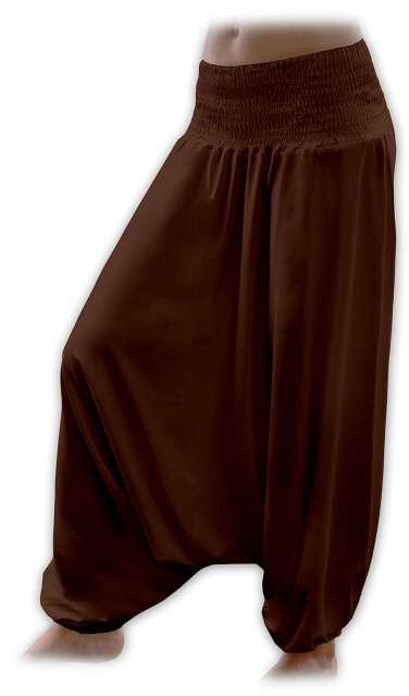 Turecké harémové kalhoty sultánky - hnědá