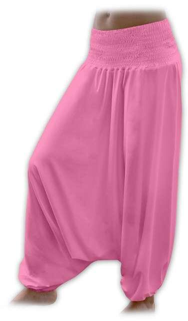 Turecké harémové kalhoty sultánky - růžová