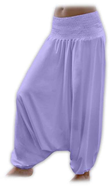 Turecké harémové kalhoty sultánky - fialová