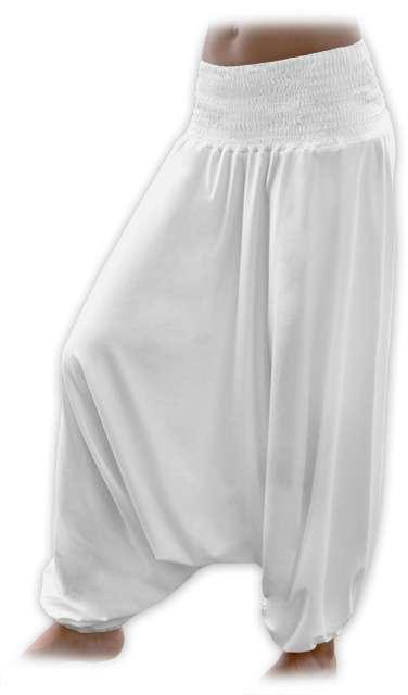 Turecké harémové kalhoty sultánky - smetanová