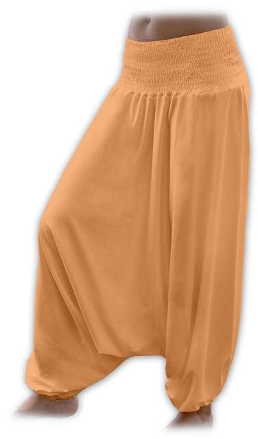 Turecké harémové kalhoty sultánky - oranžová