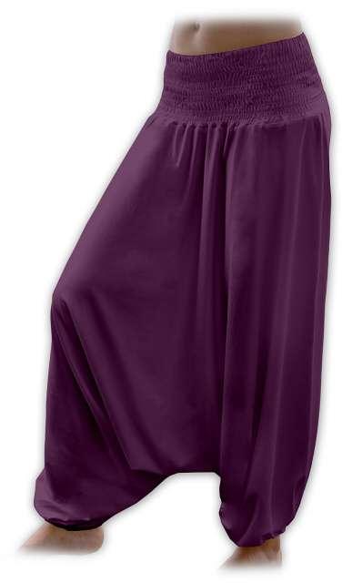 Turecké harémové kalhoty sultánky - švestka