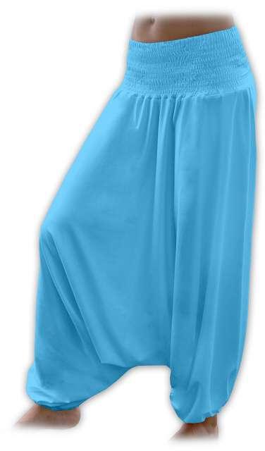 Turecké harémové kalhoty sultánky - tyrkys