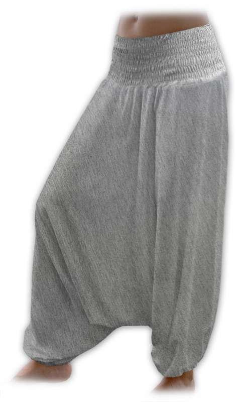 Turecké harémové kalhoty sultánky - šedá