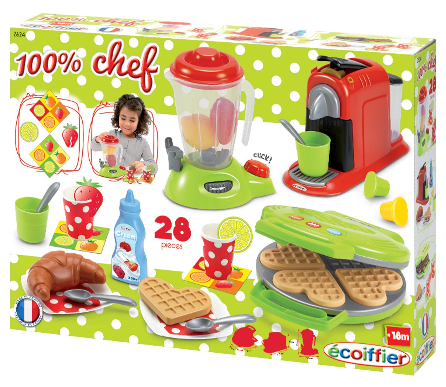 Dětský vaflovač s mixérem, kávovarem a vaflemi