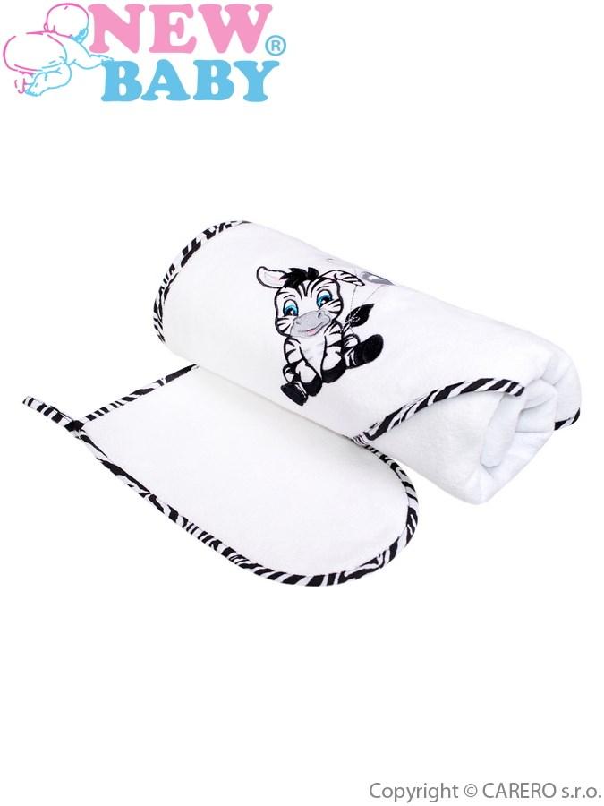 Luxusní dětská osuška Zebra 90x90cm bílá