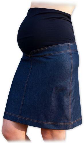 Riflová těhotenská sukně jeans džínová