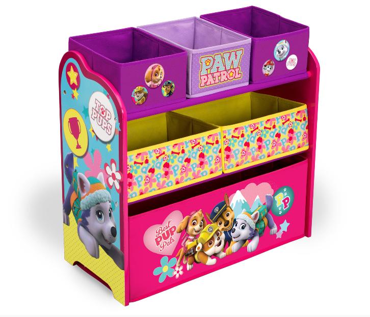 Organizér na hračky Tlapková Patrola Pink